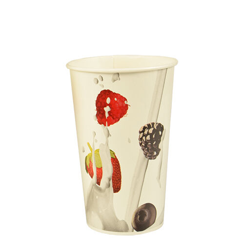 "cardboard 0,4 L Ø 9 cm 13,5 cm /""BERRIES/"" Disposable Cups Paper Cup 1000 Shake-Mug"