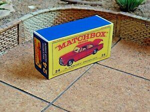 MATCHBOX REGULAR NO.24 ROLLS ROYCE SILVER SHADOW CUSTOM DISPLAY/STORAGE BOX