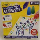 Crayola Washable Paint Stampers 90 Stamp Combo 18 Changeable Stamps 5 Paints NEW