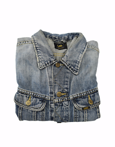 GIACCA GIUBBOTTO CAMICIA JEANS LEE TG. L BLU VINTAGE A+
