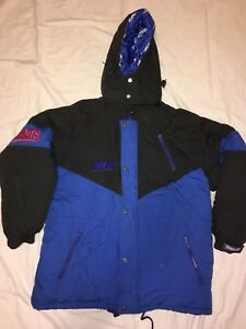 Vintage 90s NEW YORK GIANTS TRIPLE FAT GOOSE Parka jacket mens Large ... 9f093d7bf