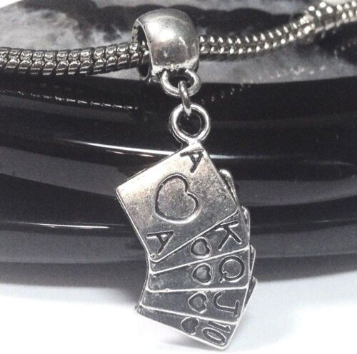 POKER HAND/_Bead for Silver European Charm Bracelet/_Playing Cards Game Casino