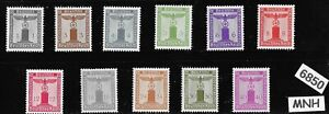 #6850   Third Reich  Officials MNH Mixed type stamp set 1938 & 1942 Germany WWII