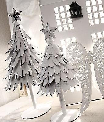 Weihnachtsbaum Metall Weiß Weihnachten Shabby Vintage Landhaus 2 Größen Deko