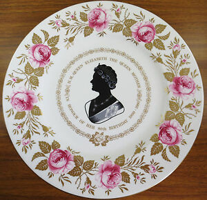 Coalport-Queen-Mother-80th-Birthday-10-75-034-Plate-Limited-Edition-143-500