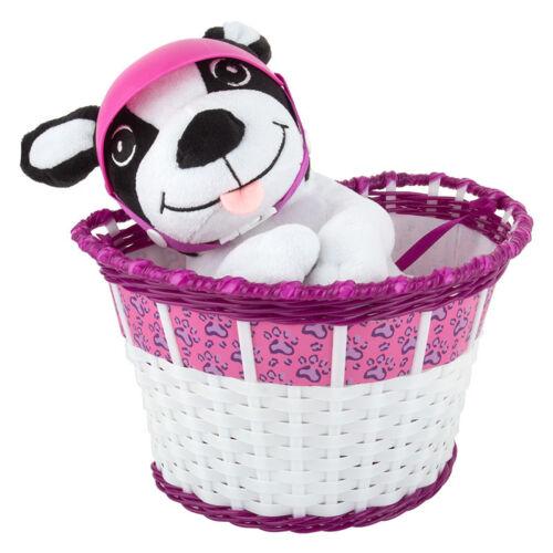 DOG Child/'s Bicycle Basket Zefal Z-Kids Bike Buddies with Stuffed Animal