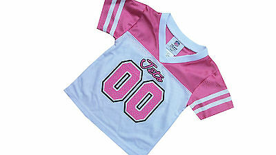 New NWT Infant Girls NFL New York Jets Pink Football Jersey Shirt Top