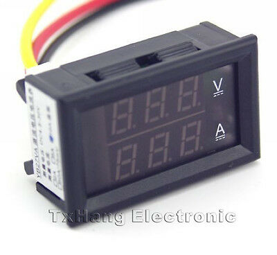 DC 4.5-30V 0-50A Dual LED Digital Volt meter Ammeter Voltage AMP Power Meter 12V
