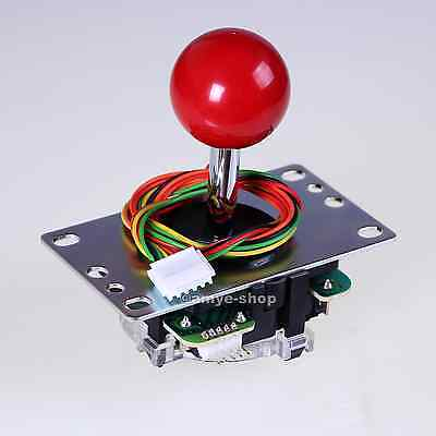 GENUINE SANWA JOYSTICK JLF-TP-8YT FOR ARCADE GAME & ARCADE MAME WITH RED HANDLE