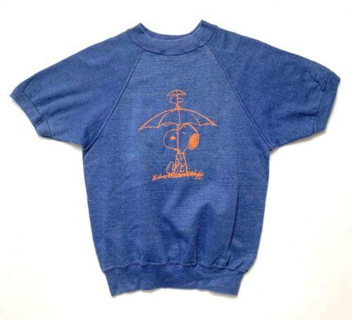 Vtg 1960s SNOOPY Short Sleeve Sweatshirt XS S PEAN