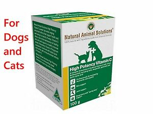 Natural-Animal-Solutions-HIGH-POTENCY-VITAMIN-C-100g-For-Dogs-Cats