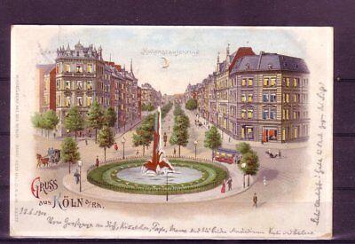 Treu Gelaufene Ansichtskarte Köln hohenstaufenring- Fabriken Und Minen europa:11324