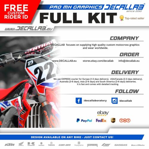 Sherco  2017 2018 ENDURO Super durable MX Graphics Decals Stickers Decallab