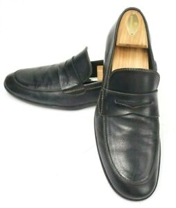 bc3889a5ad0 Louis Vuitton Mens Pebbled Leather Black Penny Loafer US Size 9 1 2 ...