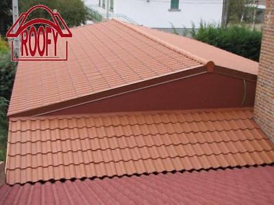 Ziegel & Pfannen Kunststoff Dachziegel Dachpfannen Rundfirst Komplettpaket Dach Für Gartenhaus SorgfäLtige Berechnung Und Strikte Budgetierung