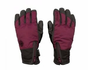 2017-NWT-WOMENS-VOLCOM-WISE-GORE-TEX-GLOVES-M-mulberry
