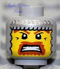 NEW Lego Castle Knight MINIFIG HEAD Gray Chain Mail Hood Viking Kingdoms Warrior