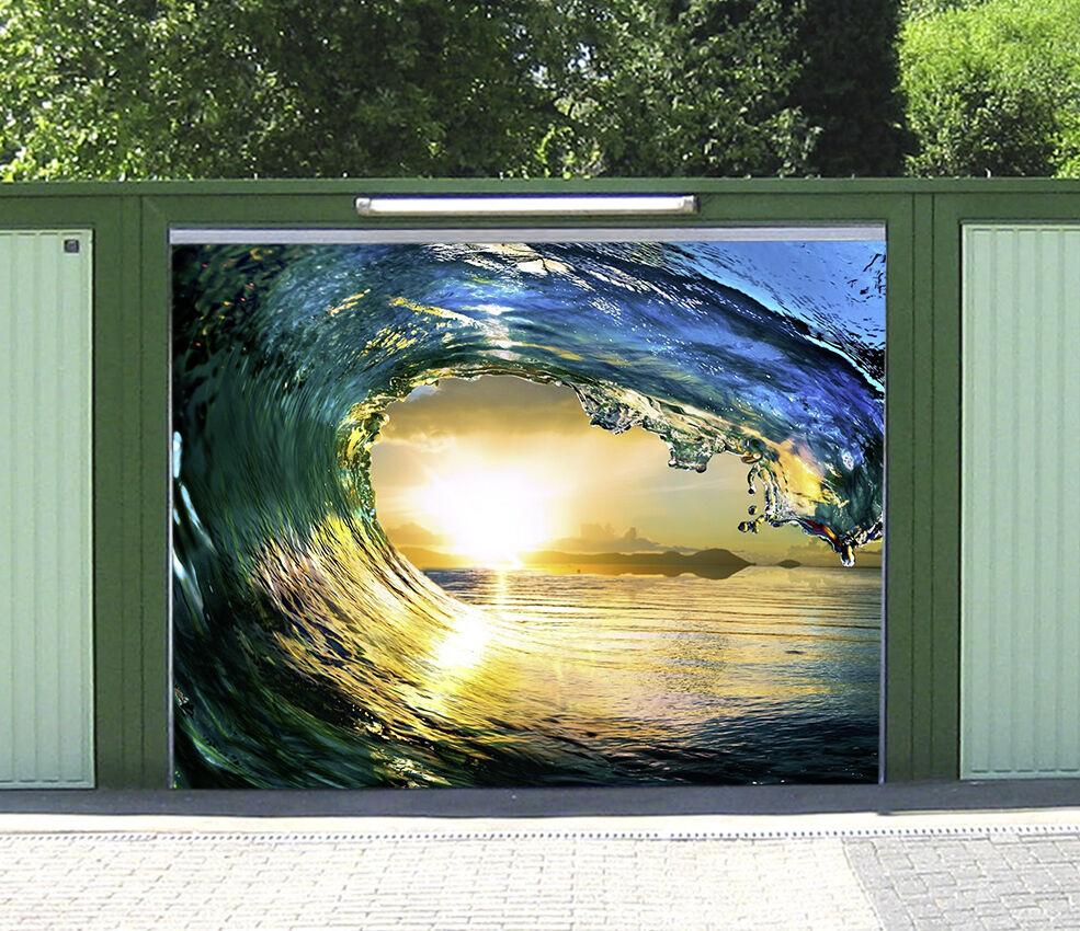 3D Vague Coucher 3 Garage Door Murals Wall Print Decal Wall Deco AJ WALLPAPER FR