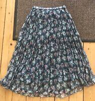Plisseret nederdel , str. 38, H&M , Blålig