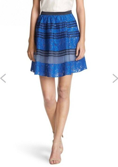 Draper James Hyde Collection Lace Skirt bluee Size 4 Small Floral  250