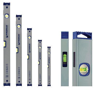 PROMAT Wasserwaage mit Spiegellibelle 30 - 200 cm Messgenauigkeit max. 0,5 mm/m