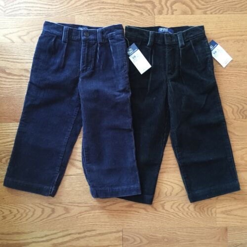 POLO RALPH LAUREN boys 18m 2T 4T CORDUROY PANTS Wide Wale PLEATED Dress NWT