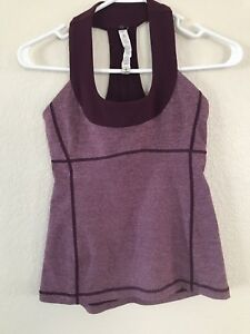 9116764b13 Image is loading Lululemon-Burgandy-Tank-Top-W-Mesh-amp-Built-