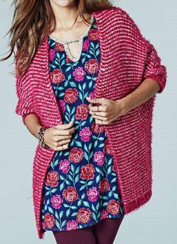 Size 20//22 Marisota Pink Supersoft Short Sleeve Cardigan