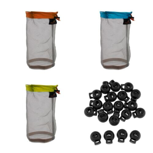 3pcs Camping Net Mesh Zeug Sack Pack für Tavel 20 Release schaltet Buckle