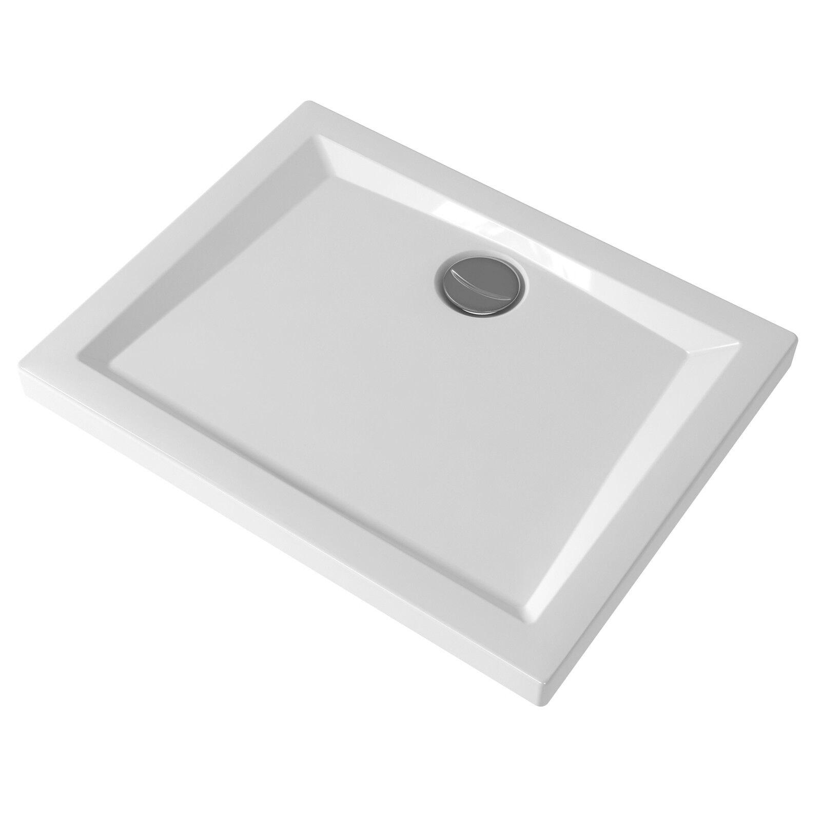 Piatto doccia Pozzi-Ginori 100x70 cm bianco lucido rettangolare spessore mm 60
