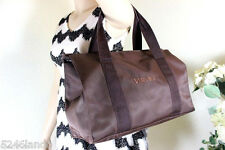 Vintage Gianni VERSACE Couture Brown Nylon Tote Shoulder Bag Italy
