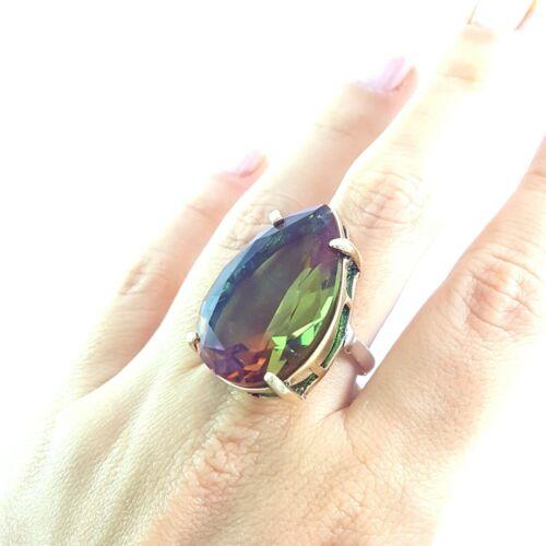 Turc fait main argent Sterling 925 Bijoux Alexandrite Lady Ring apolite S5-11