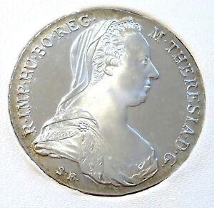 1780-Austria-Maria-Theresa-Thaler-Restrike-Silver-Coin-Presentation-Folder
