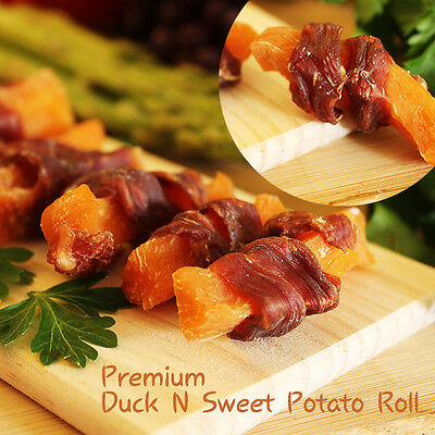 Luxury Treat- All Natural Healthy Dog Snack Duck Jerky Sweet Potato Made in USA