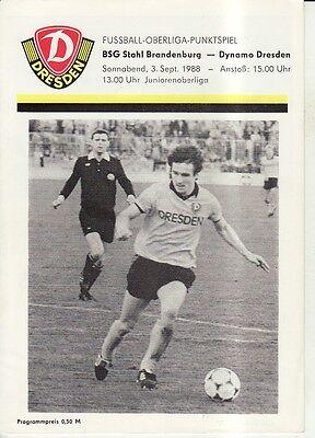 BFC Dynamo Berlin OL 87//88   BSG Stahl Brandenburg