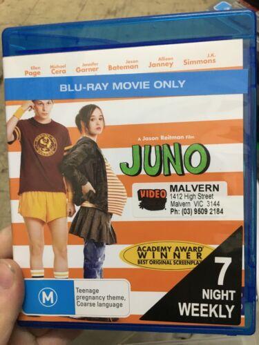 1 of 1 - Juno ex-rental BLU RAY (2007 Ellen Page comedy drama movie) * cheap *