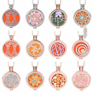 New-Locket-Necklace-Fragrance-Essential-Oil-Aromatherapy-Diffuser-Pendant-Gift