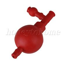 Rubber Pipette Filler Bulb Red 72x52mm For Agricultural Research Laboratory