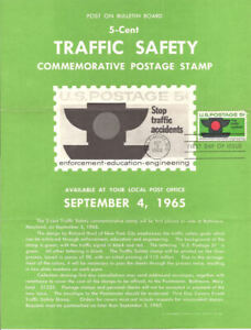 1272-Traffic-Safety-Stamp-Poster-Unofficial-Souvenir-Page-FD-MC