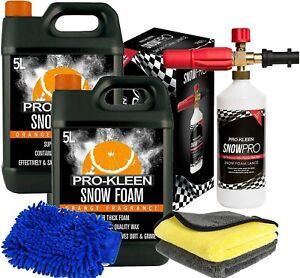 Pro-Kleen 10L Orange Snow Foam Karcher Lance Cleaning Cloths Micro Fibre Glove