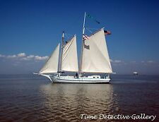 Classic Wooden Schooner on Mobile Bay, Mobile, Alabama - Giclee Photo Print