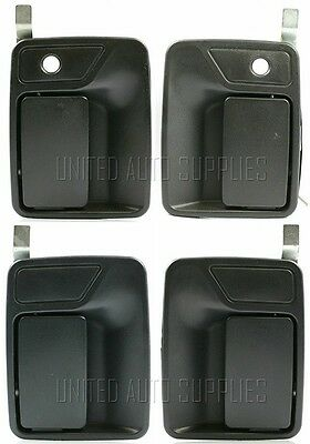 Set of 4 PCS Outside Door Handle Texture Black for 99-14 Ford F Super Duty Truck