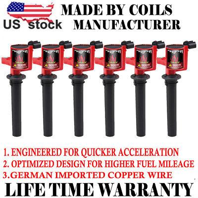 Ignition Coil Set of 6 DG500 DG513 For Escape Ford Mazda Mercury 3.0L V6 FD502