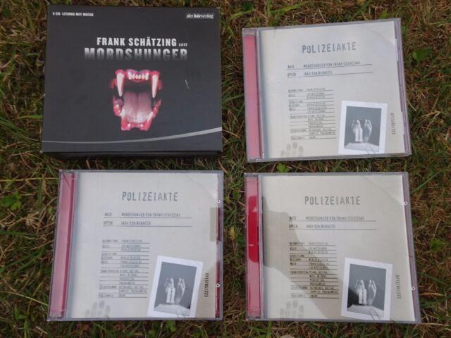 Frank Schätzing liest 'Mordshunger'  Krimi Hörbuch 5 CD Lesung mit Musik