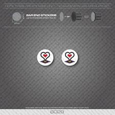 6029-DE ROSA BICICLETTA manubrio bar end PLUG Adesivi-Decalcomanie