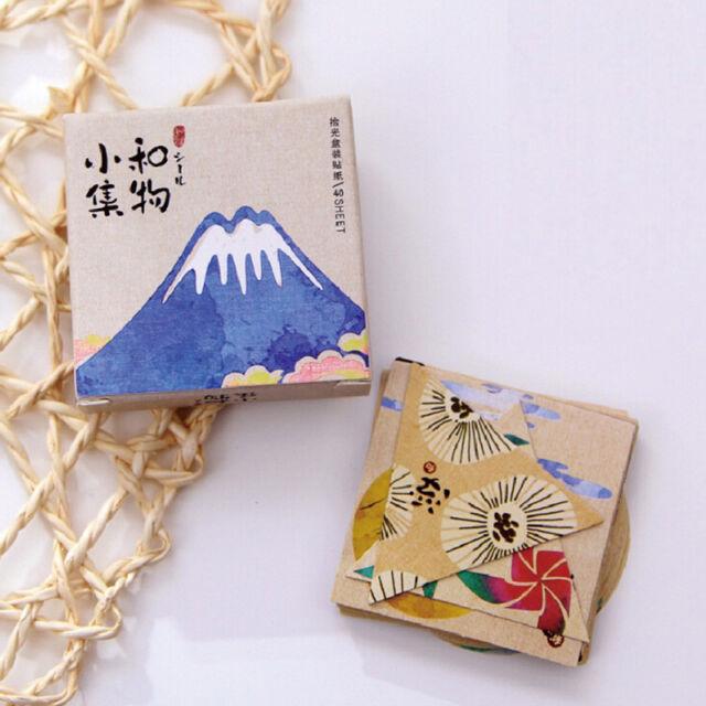 40pcs vintage japanese paper decorative label adhesive scrapbooking sticker Nice