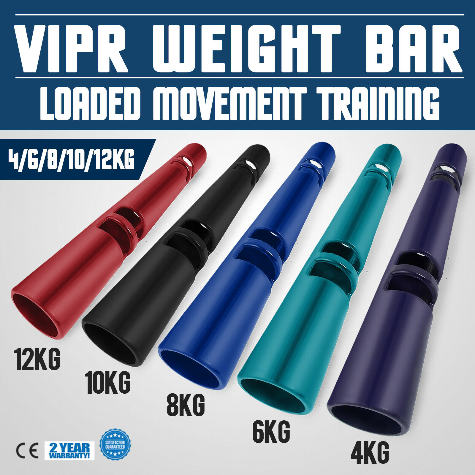 ViPR Fitness  Tube 4 6 8 10 12kg  Viper bluee Rubber Exercise  lowest whole network