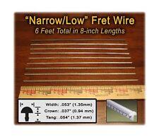 Narrow//Low Fret Wire for Mandolin Banjo Ukelele Dulcimer /& more Six Feet