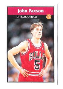 John-Paxson-1992-93-Chicago-Bulls-Basketball-Italian-Panni-Sticker-card