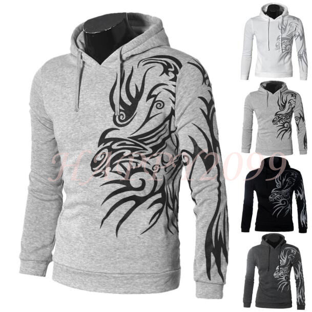 Men's Round Neck Long Sleeve Casual Slim Fit Printed Outwear Jacket Coat Tops
